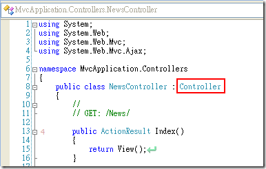 ASP.NET MVC 中所有的 Controller 都是繼承 Controller 這個抽象類別