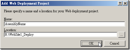 Add Web Deployment Project