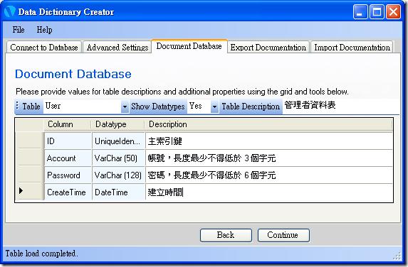 Data Dictionary Creator