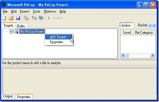 Microsoft FxCop - Add Targets