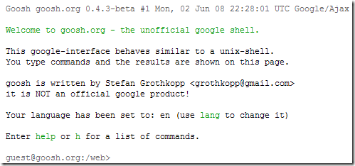 有趣的 Google command line shell