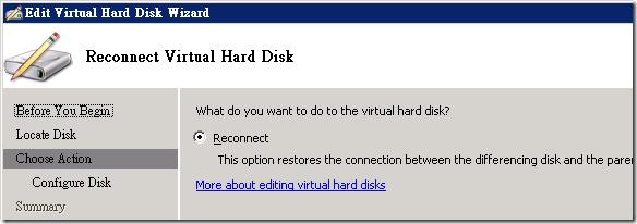 選擇 [Reconnect] 選項