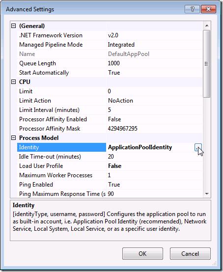 IIS 7.5 :: Application Pools :: Advanced Settings