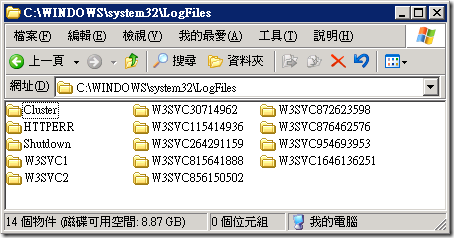 C:\WINDOWS\system32\LogFiles