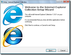 Internet Explorer Collection 1.3.0.1 安裝過程