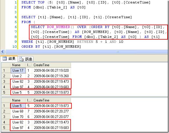 在 Table_2 的分頁結果中,第一頁的資料與第二頁的資料就開始出現重複的資料