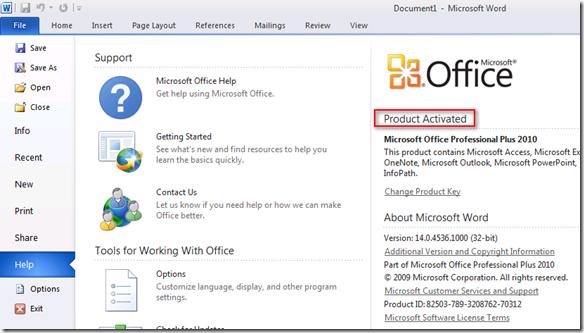 microsoft office 2010 金 鑰 序號