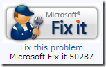 Microsoft Fix it 50287