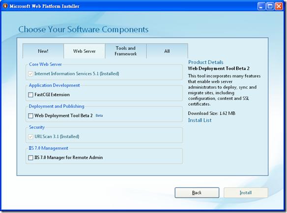 Microsoft Web Platform Installer on Windows XP SP3