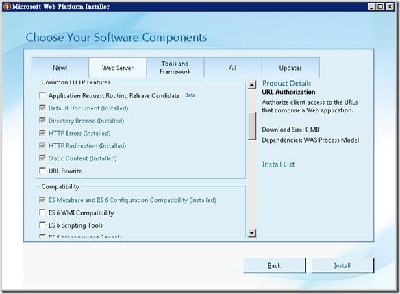 Microsoft Web Platform Installer on Windows Server 2008