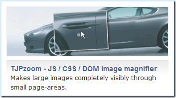 Makes large images completely visibly through small page-areas.