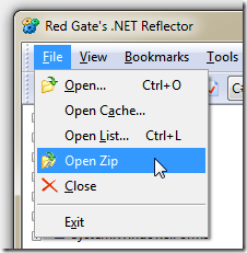 Red Gate's .NET Reflector :: Open Zip