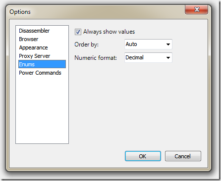 Red Gate's .NET Reflector :: Enum Viewer 讓你可以在主選單的 [View] / [Options] 中可設定列舉顯示的方式