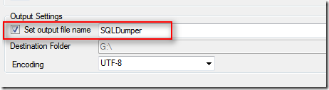 SQL Dumper :: [Output Settings]