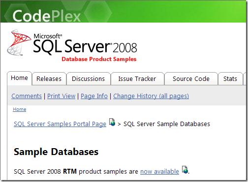 SQL Server Sample Databases