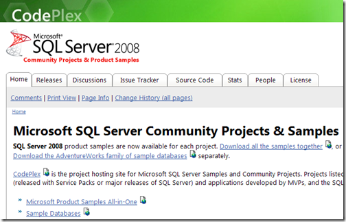 Microsoft SQL Server Community Projects & Samples