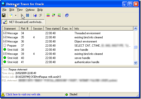 Statement Tracer for Oracle