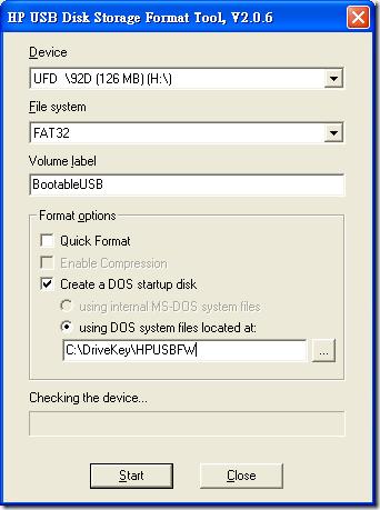 HP USB Disk Storage Format Tool, V2.0.6
