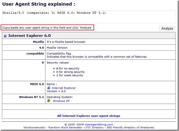Mozilla/4.0 (compatible; U; MSIE 6.0; Windows NT 5.1)