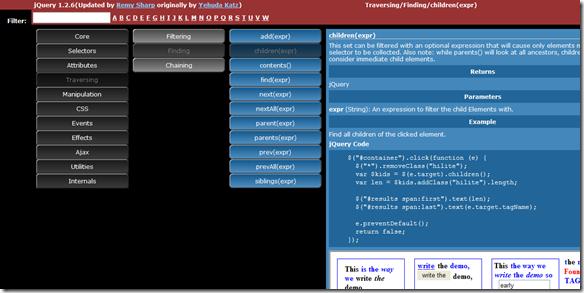 Visual jQuery 1.2.6 Website