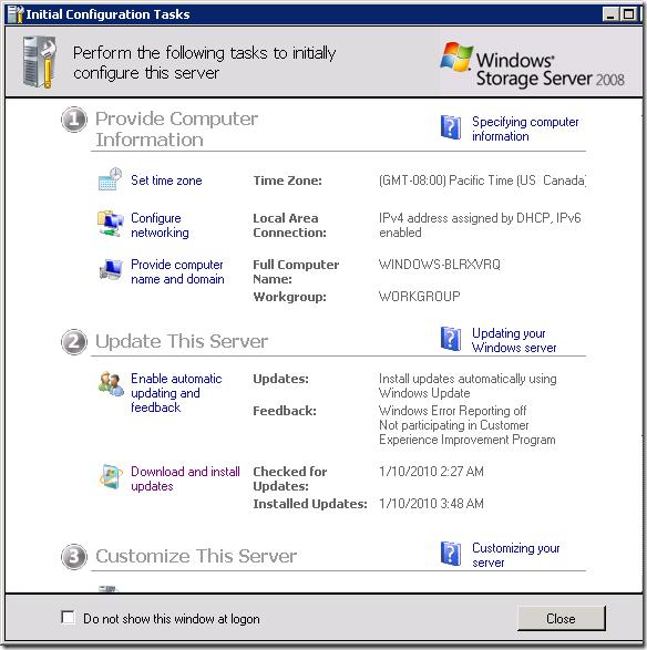 Initial Configuration Tasks