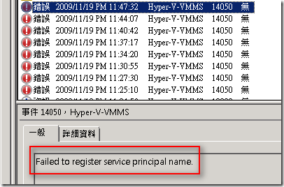 Failed to register service principal name.