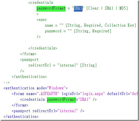 web.config.comments 除了可以看見 web.config 的所有預設屬性值外,還可以看見所有屬性可能出現的所有選項值,只要你對該設定有一定程度的瞭解,通常就可以一目了然的立即反應你可以設定的值,不用每次都上網閱讀龐雜的 MSDN 文件