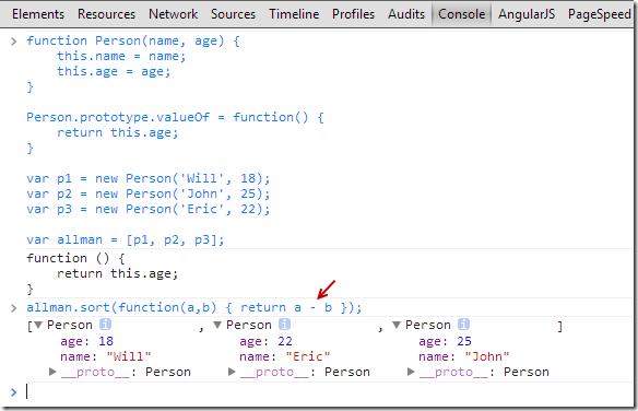 Java script valueof boolean